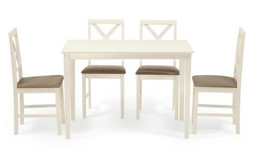 Обеденная группа Hudson Dining Set ivory white, ткань беж. (Q19-1)